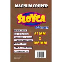 SLOYCA Koszulki Magnum Copper (65x100mm) 100 szt.