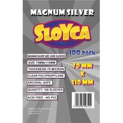 SLOYCA Koszulki Magnum Silver (70x110mm) 100 szt.